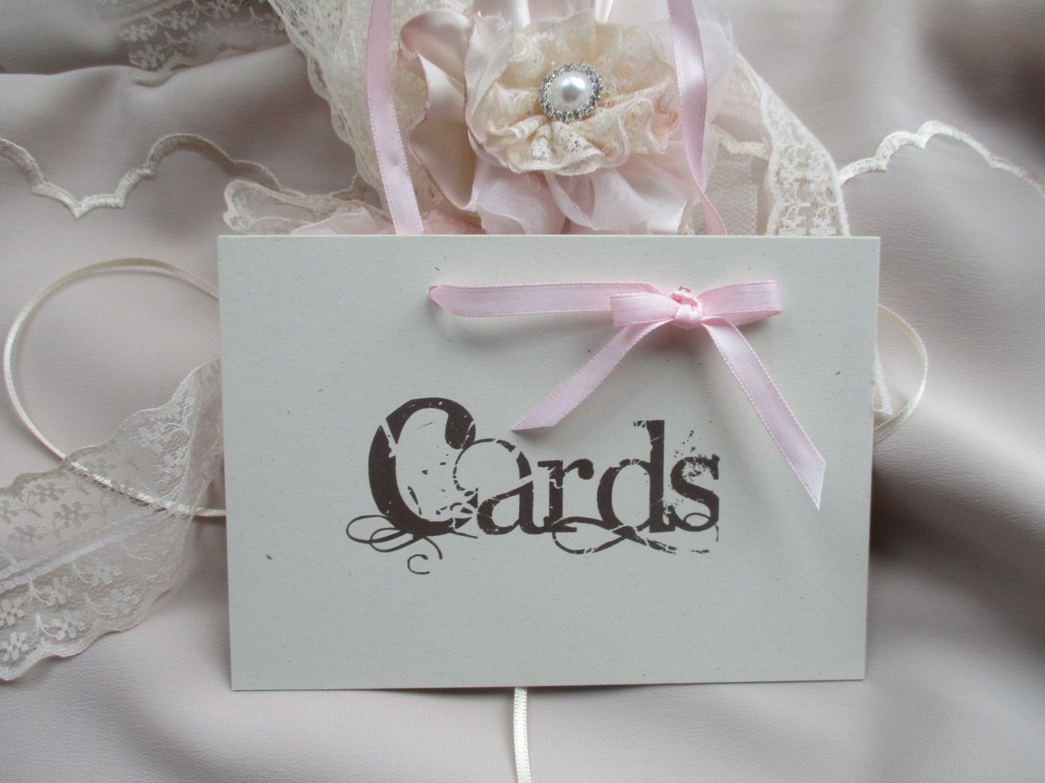 Card Sign Handmade Vintage Style Wedding Venue Decor Post Box By TheIvoryBow On