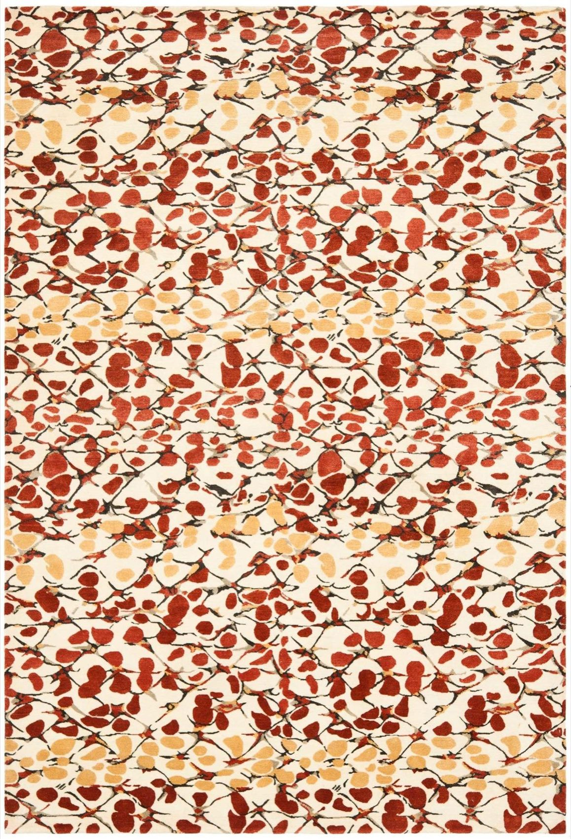Displaying an abstract design of stylized branches, brambles, and flower buds, Martha Stewart's Abstract Trellis Barn Red rugs are more like a painting for the floor that will add life to any interior. Originating from Nepal and crafted from fine hand knotted silk and wool, the Abstract Trellis Barn Red rug is an elegant addition to Safavieh transitional rugs. Martha Stewart is   http://www.cyrusrugs.com/safavieh-rugs-martha-stewart-item-13651&category_id=0