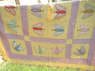 pretty butterfly quilt