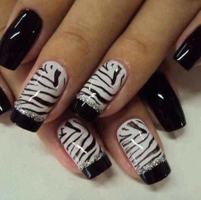 Zebra Lovers Awesome Nails Pinterest