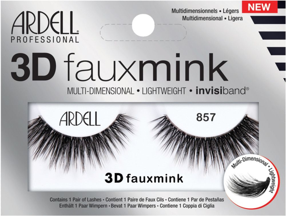 ea790087fdc Building upon their Faux Mink success, Ardell's 3D Faux Mink Lash #857 has  all the standout features of Ardell faux mink lashes - now in  multidimensional, ...