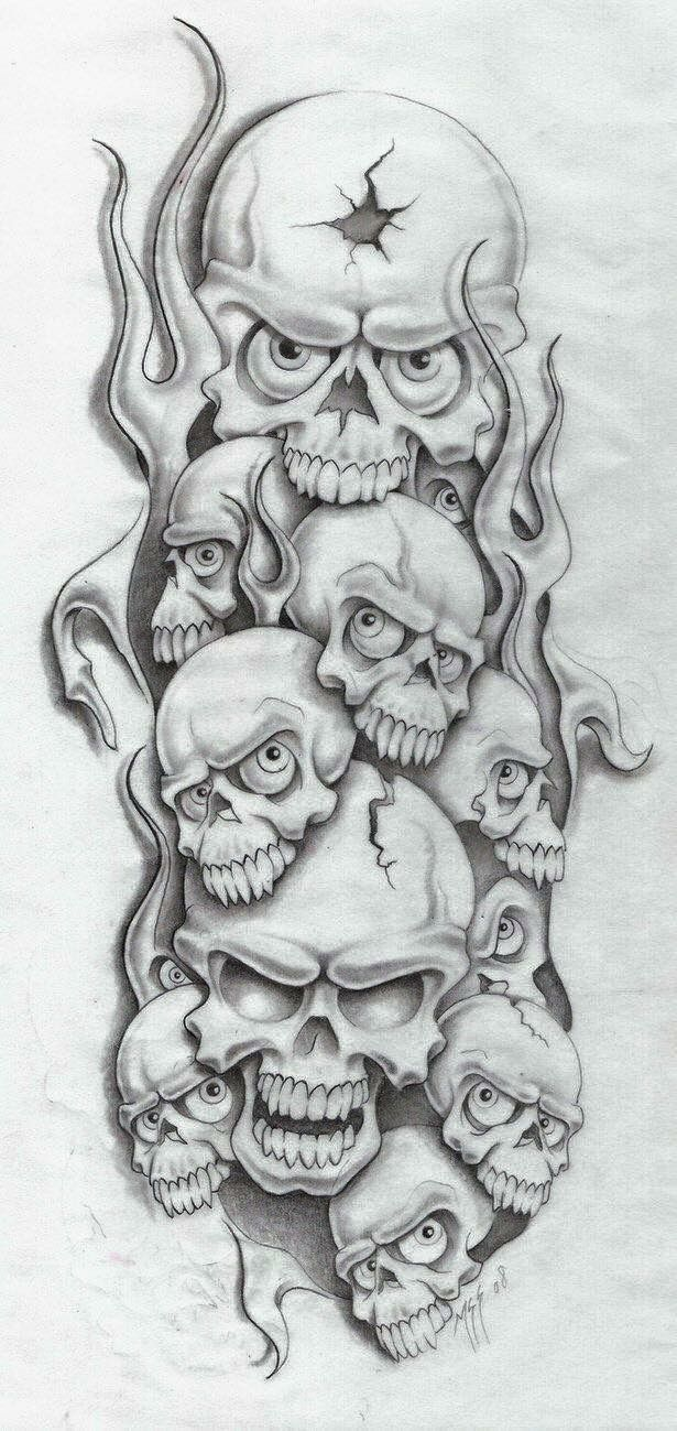 Stencil Evil Tattoo Designs : stencil, tattoo, designs, Chestek, Skulls, Drawing,, Skull, Stencil,, Tattoo