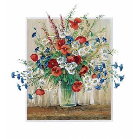 Posterazzi A vase with poppies Canvas Art - Katharina Schottler (24 x 24)