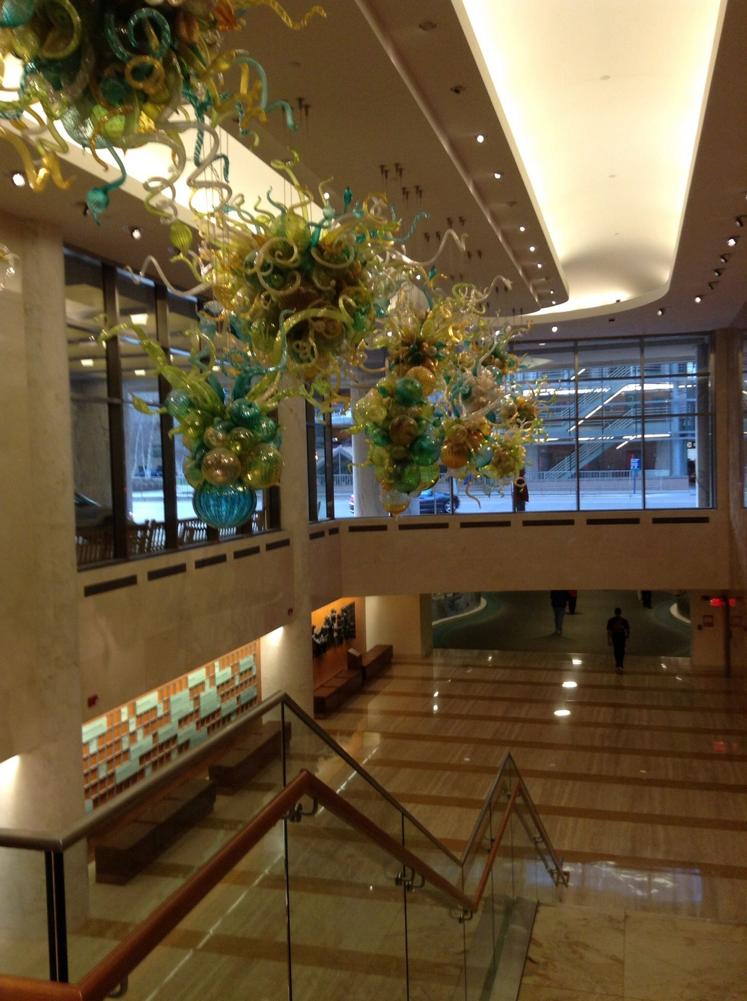 Chihuly sculpture at Mayo Clinic, Rochester. Consists of 13 pieces ...
