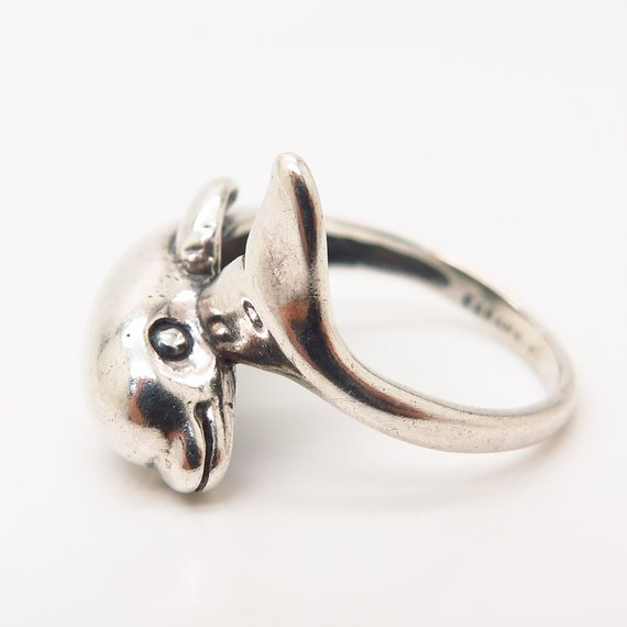 Kabana Dolphin Ring in Sterling Silver