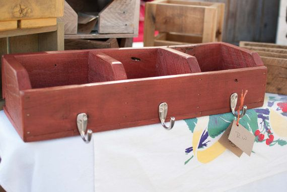 3 Pocket Cubby by ReformedWood on Etsy, $52.00