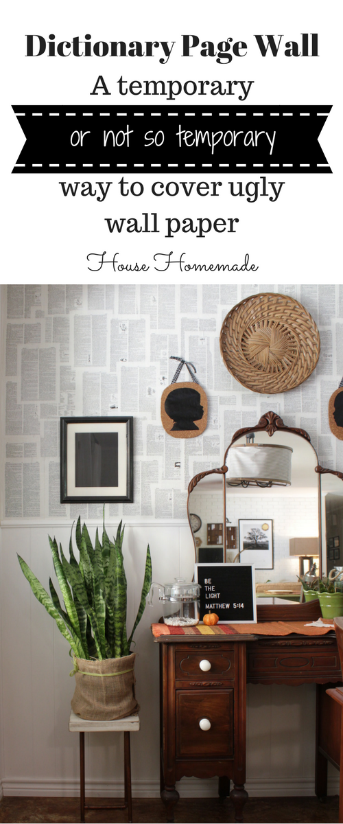 Dictionary Page Wall Tutorial House Homemade