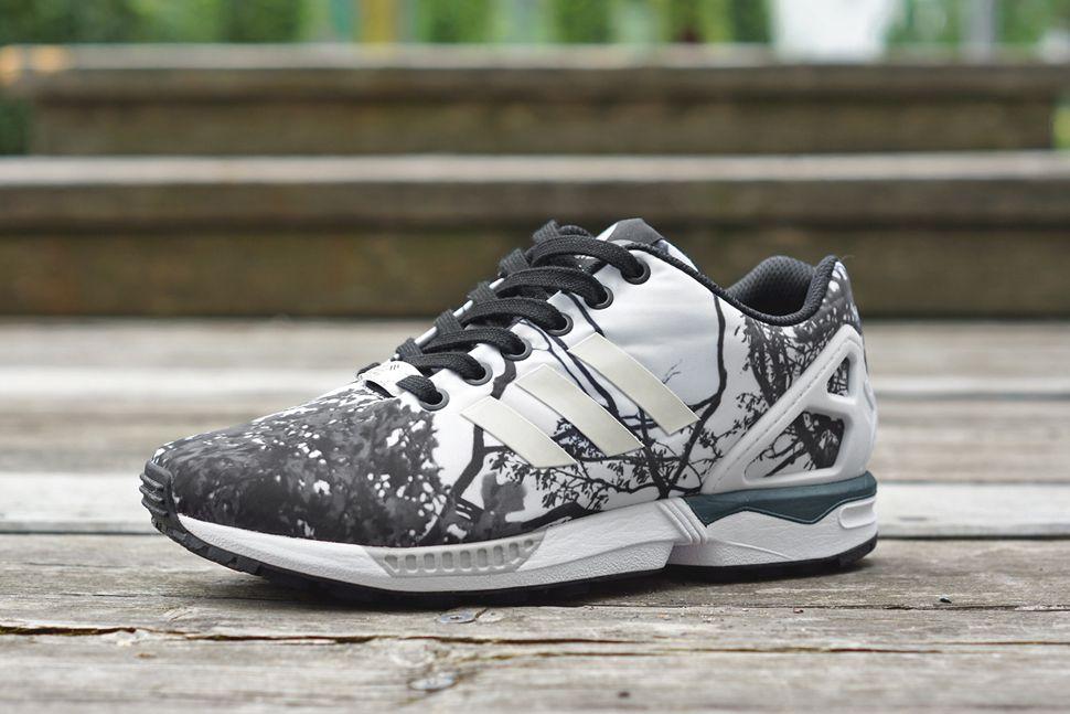 e65825a689462  adidas ZX Flux Wmns - Monochrome Floral  sneakers