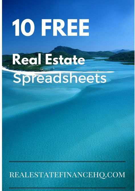 10 Free Real Estate Spreadsheets Real estate, Business and Real