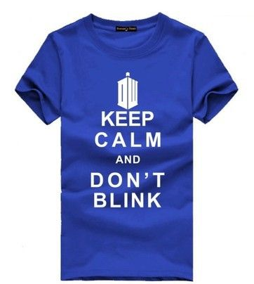 New summer short sleeved T shirt Keep Calm and Do not Blink T shirt lovers Doctor Who-in T-Shirts from Men's Clothing & Accessories on Aliexpress.com   Alibaba Group