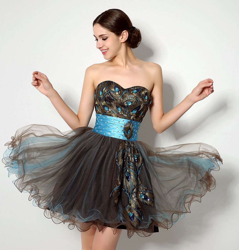 In stock short homecoming dresses sweetheart above knee bandage