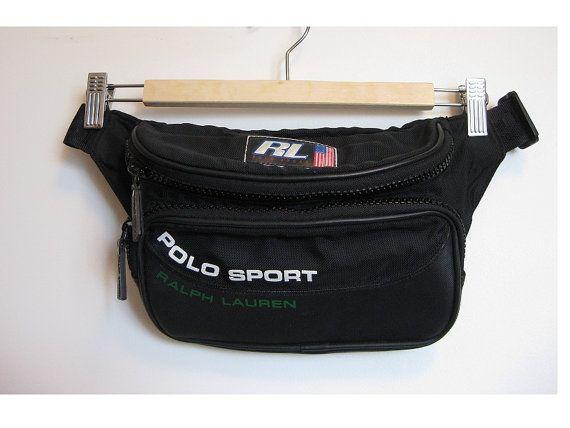 66d7c03362 90s black nylon fanny pack-POLO sport -Ralph lauren - hip bag- belt ...