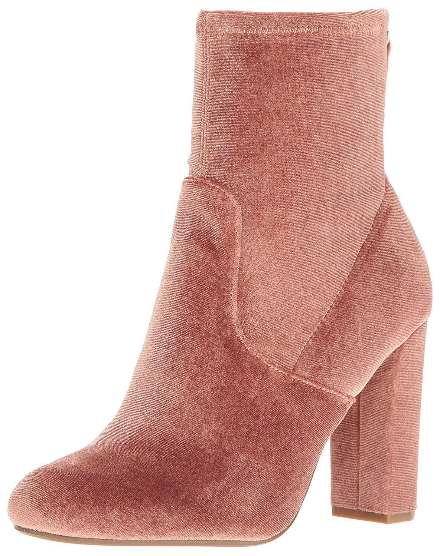 Amazon.com   Steve Madden Women's Brisk-V Ankle Bootie, Blush Velvet,