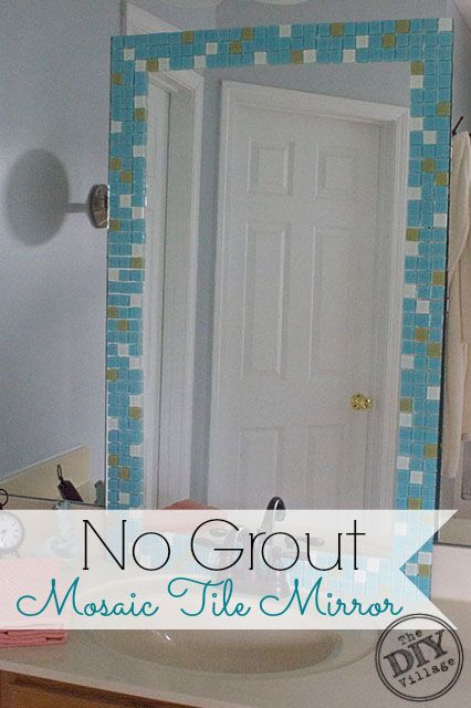 How to make a custom tiled mirror tile mirror house and craft solutioingenieria Image collections