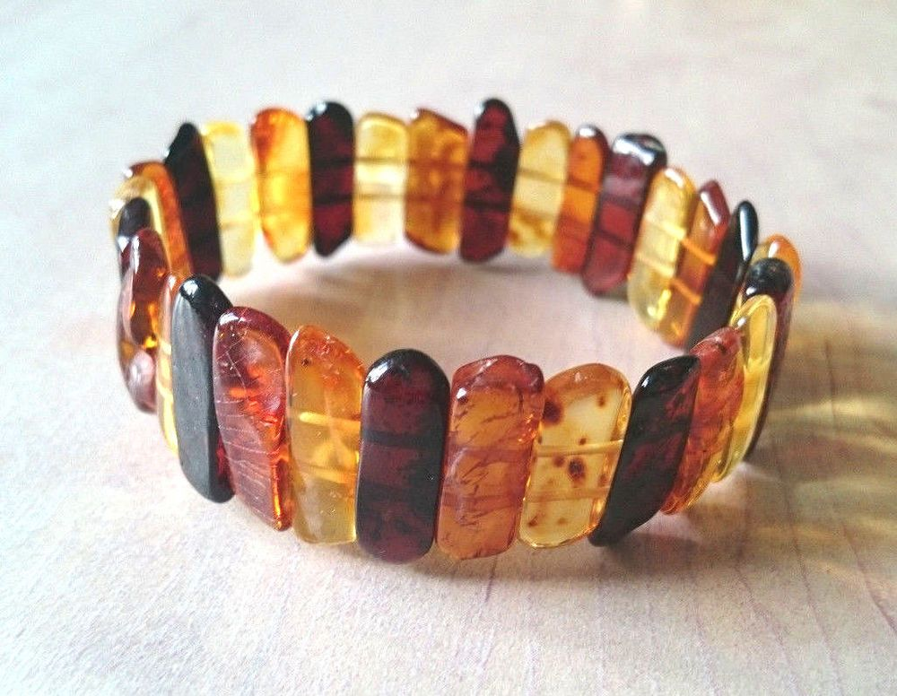 11,2 Natural Baltic Amber Multicolor Bracelet No Enhancement #Unbranded