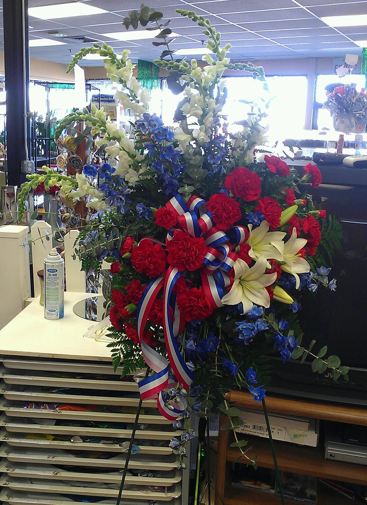 Funeral easel retired military floral passion pinterest funeral easel retired military izmirmasajfo