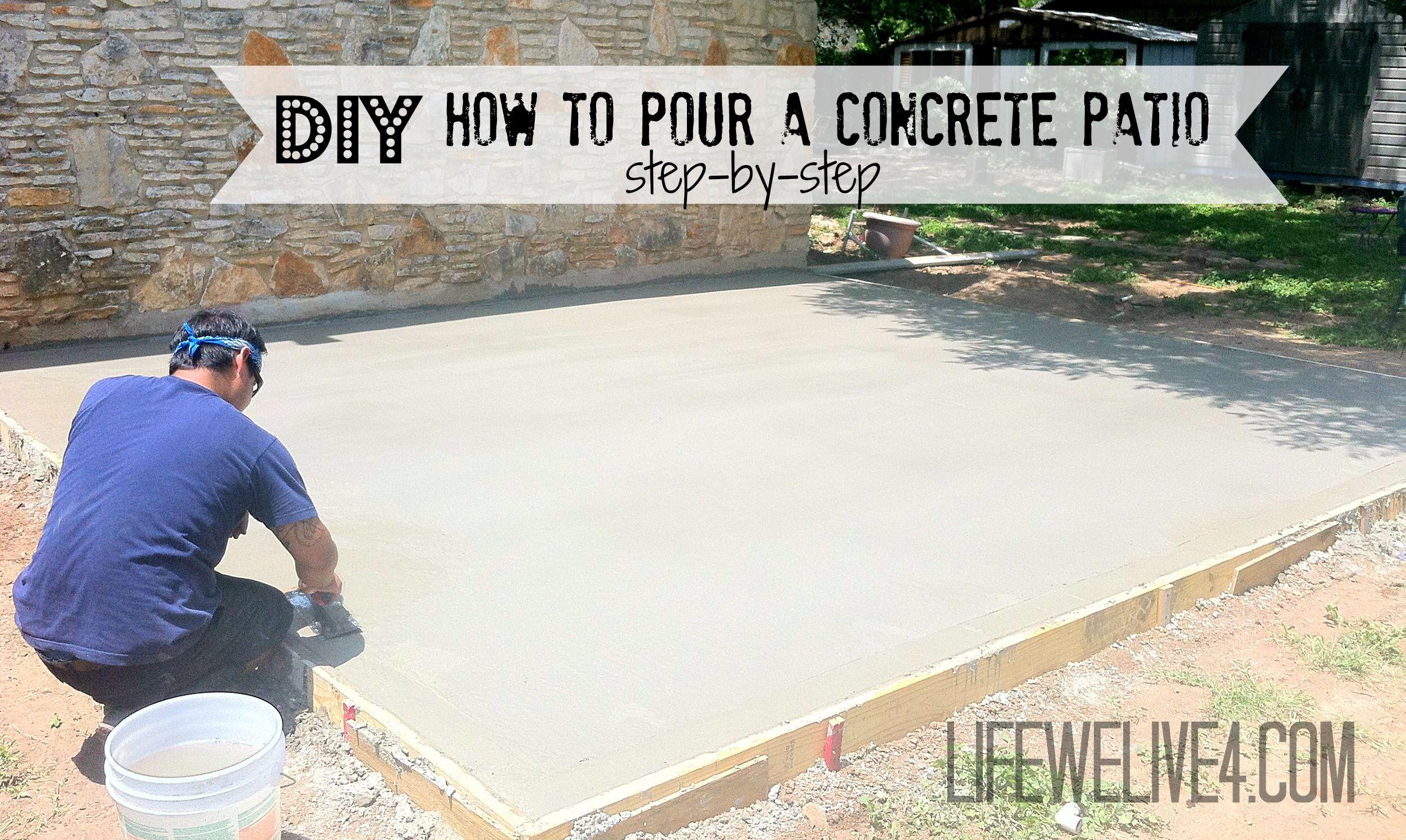 diy concrete patio DIY How To Pour a Concrete Patio