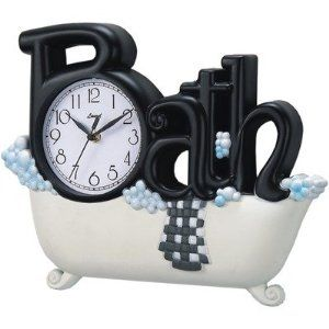 Great Bathroom Clock Vintage Bathroom Accessories White