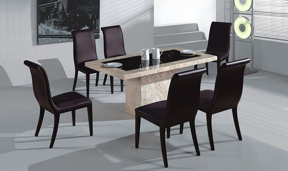 Sydney Marble Dining Table Set Sets Modern