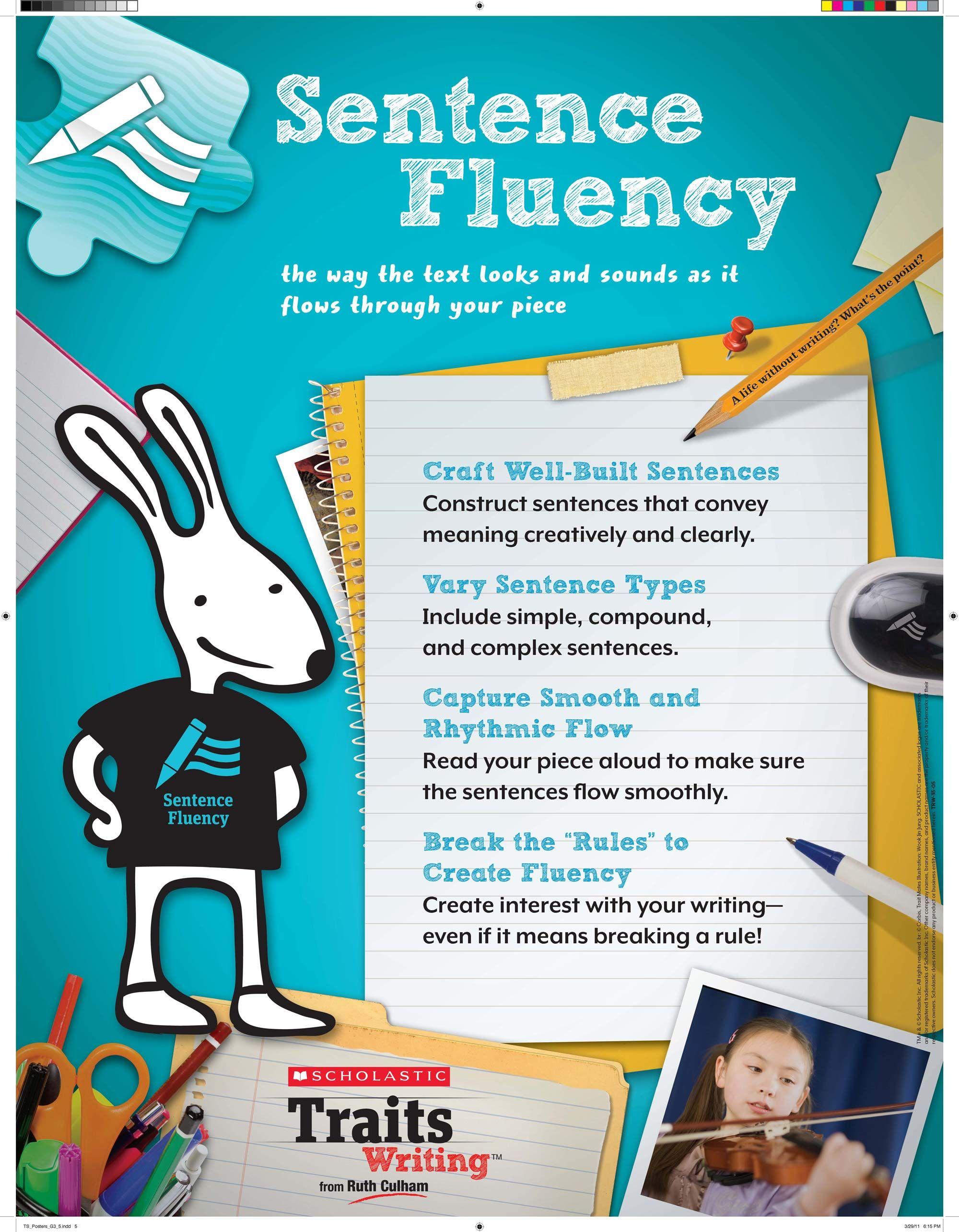 Week 4 Chart Of Information Regarding Sentence Fluency
