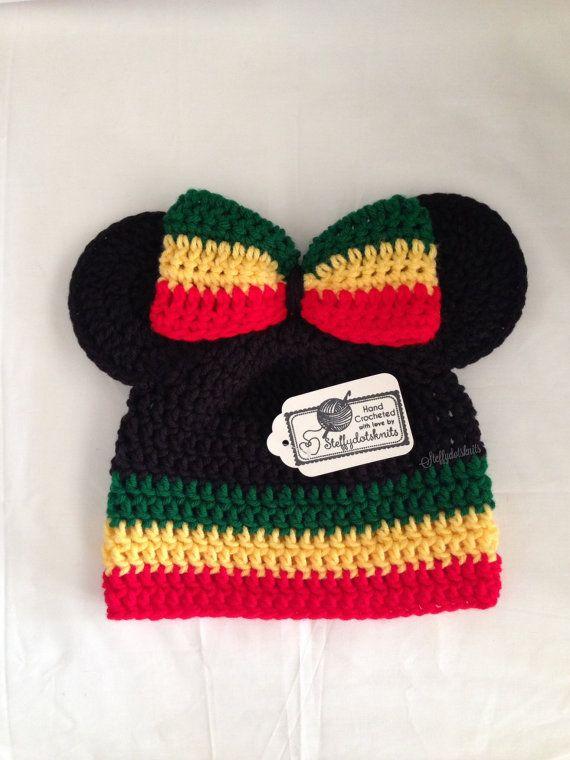eafd5c8e354 Rasta Minnie Mickey Mouse Ears Beanie
