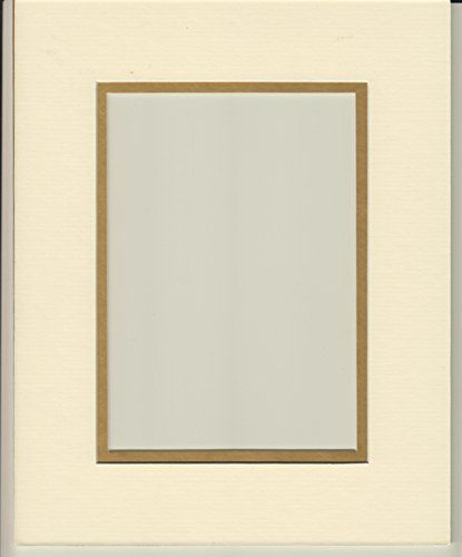 20x24 Cream Gold Double Picture Mats Bevel Cut For 16x20