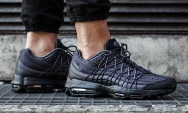 Nike Men's Air Max 95 Ultra SE Dark Grey Wolf Black Shoes