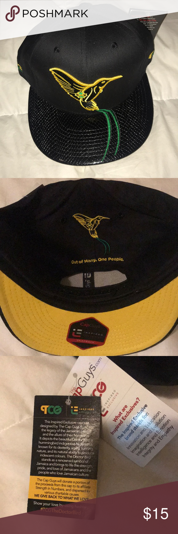 """e5faa1b036d The Cap Guys Doctor Bird Hat Brand new with tags Snapback """"The Cap Guys""""  Jamaica Doctor Bird Hat Accessories Hats"""