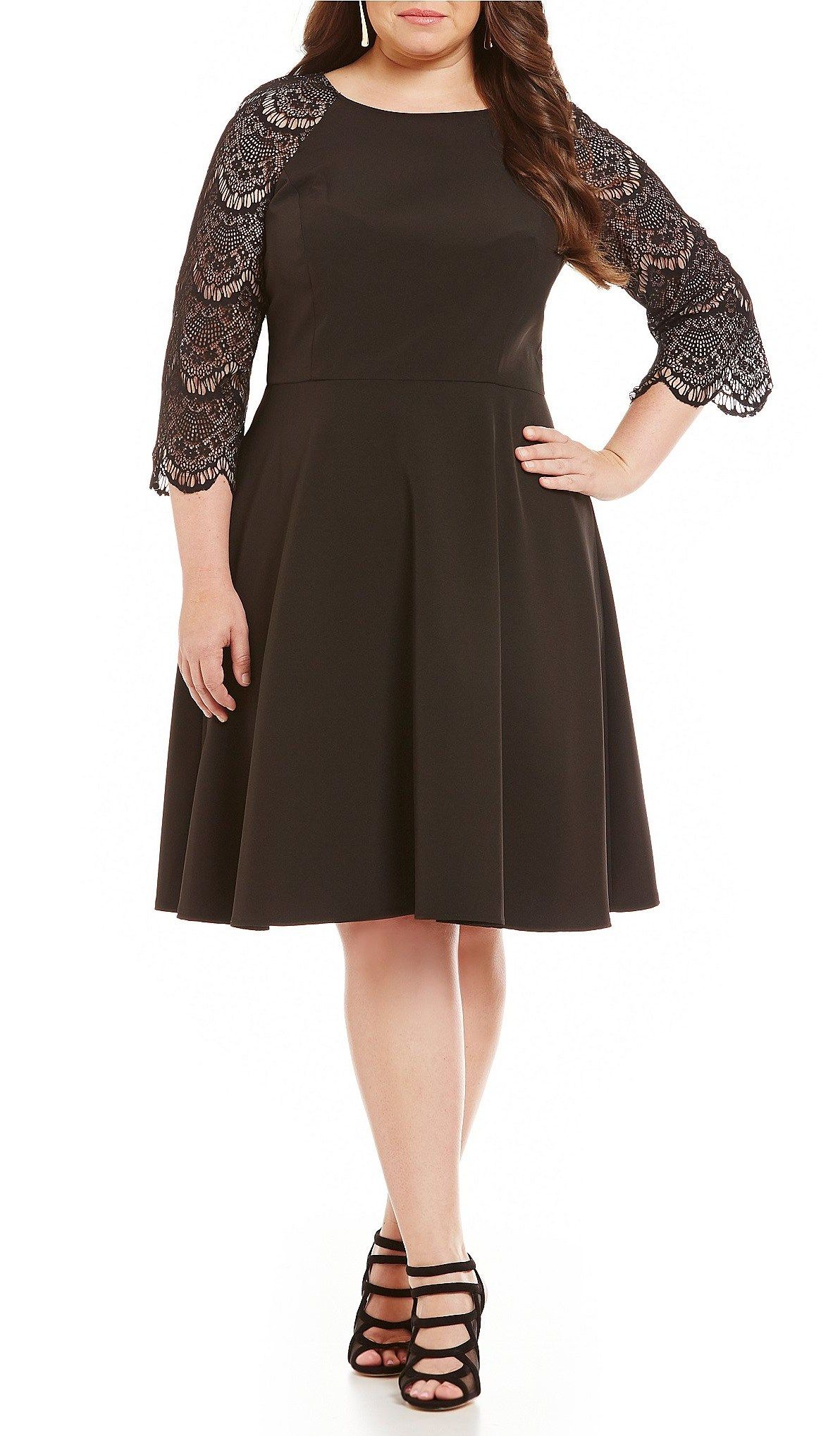 18 Plus Size Black Dresses With Sleeves Black Fashion And Clothes