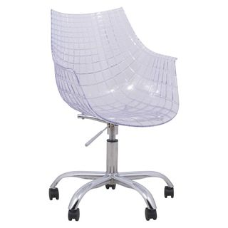 South Shore Clear Acrylic Office Chair With Wheels   18424727    Overstock.com Shopping