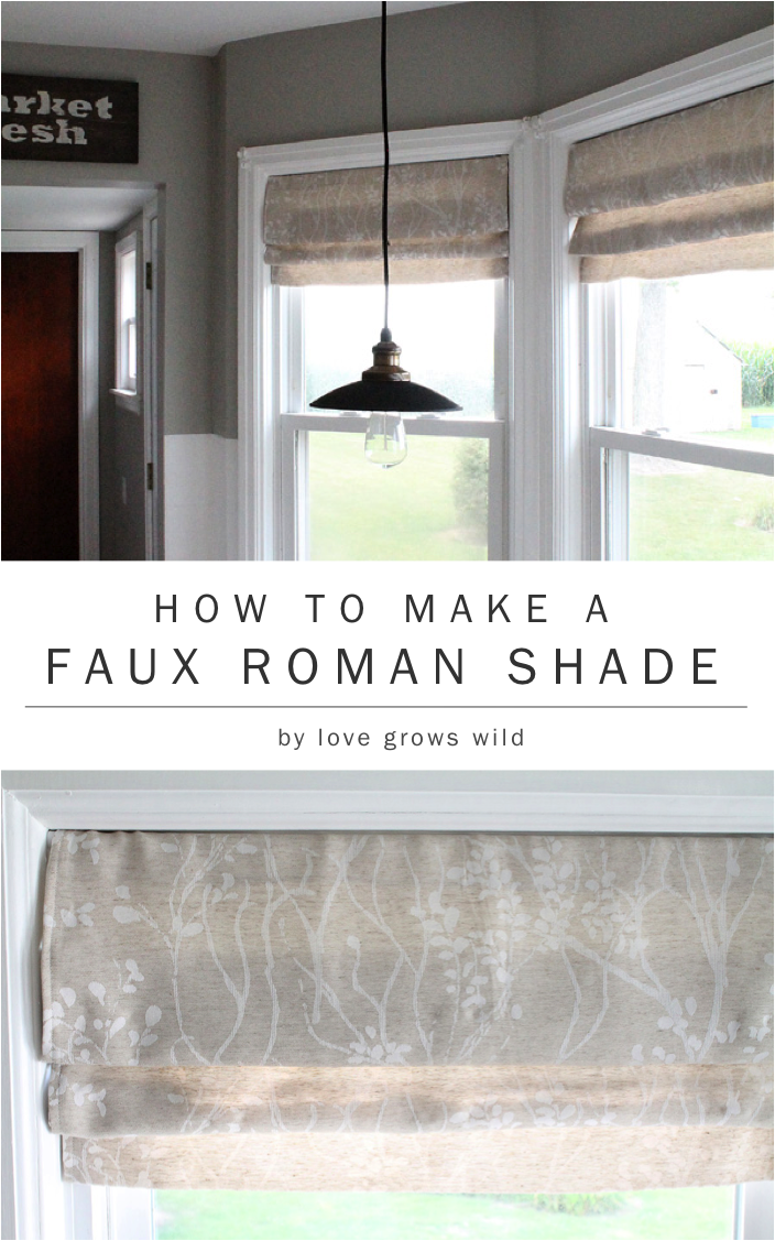 How To Make A Faux Roman Shade. Kitchen ...