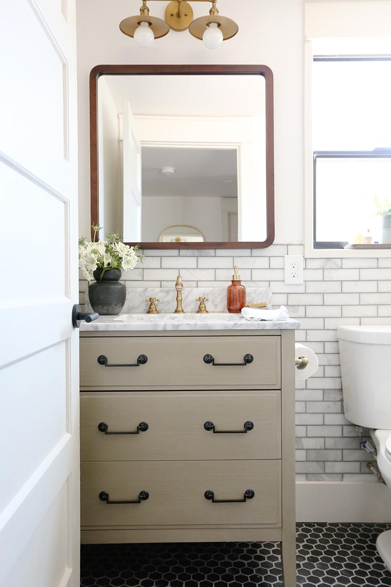 Evergreen House Guest Bathroom Reveal Juniper Home Guest Bathroom Evergreen House Simple Bathroom Decor