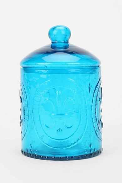 Fleur-De-Lys Glass Jar