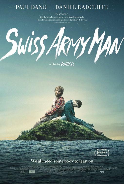 """We all need somebody to lean on."" directed by: Dan Kwan / Daniel Scheinert starring: Daniel Radcliffe, Mary Elizabeth Winstead, Paul Dano, Timothy Eulich"