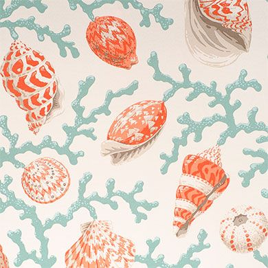 Master Br Bench And Small Accent Pillows P Kaufmann Outdoor Sea Shell Branch Coral 54 Fabric Sold By The Yard Coastal Fabric Sea Shells Coral Design