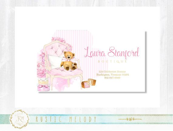 premade baby business card gold business card baby business card thank you card