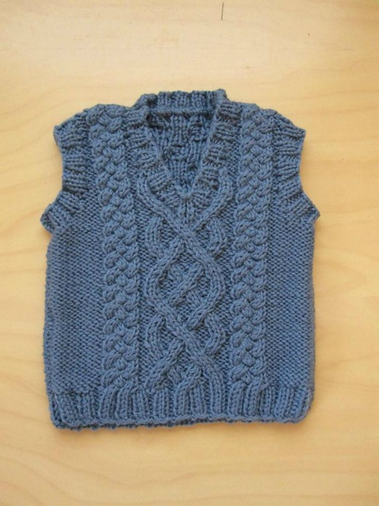 Make an Adorable Baby\'s Aran Vest | Baby vest, Baby knitting and ...