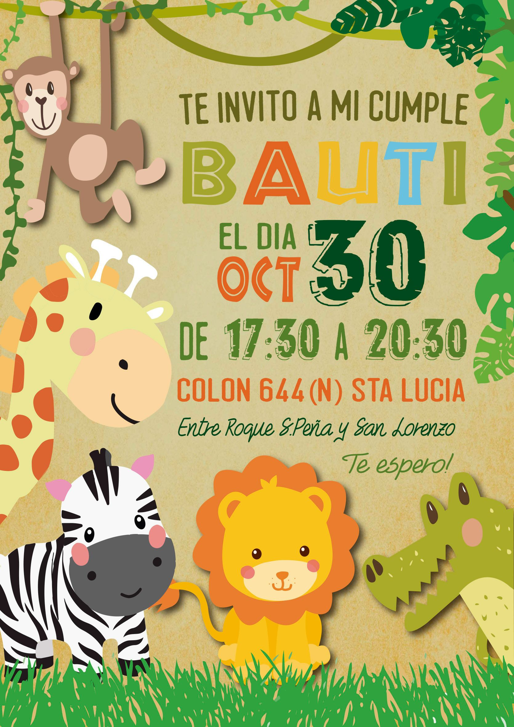 "Consulta mi proyecto @Behance: ""Jungle themed birthday party ..."