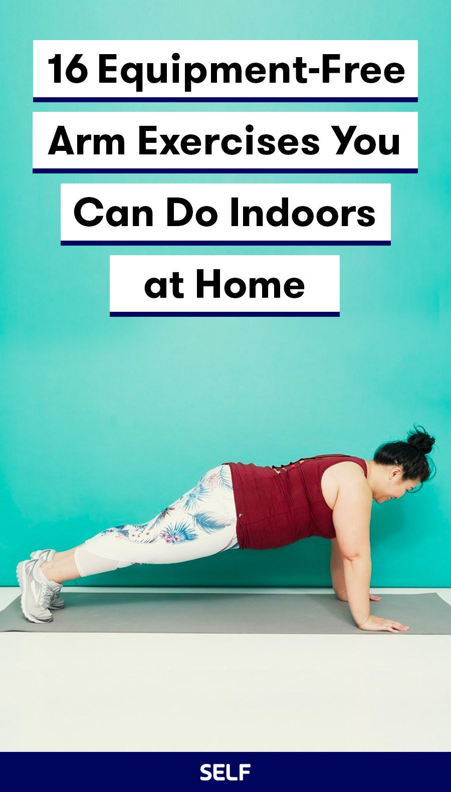 20 Arm Exercises Without Weights You Can Do at Home