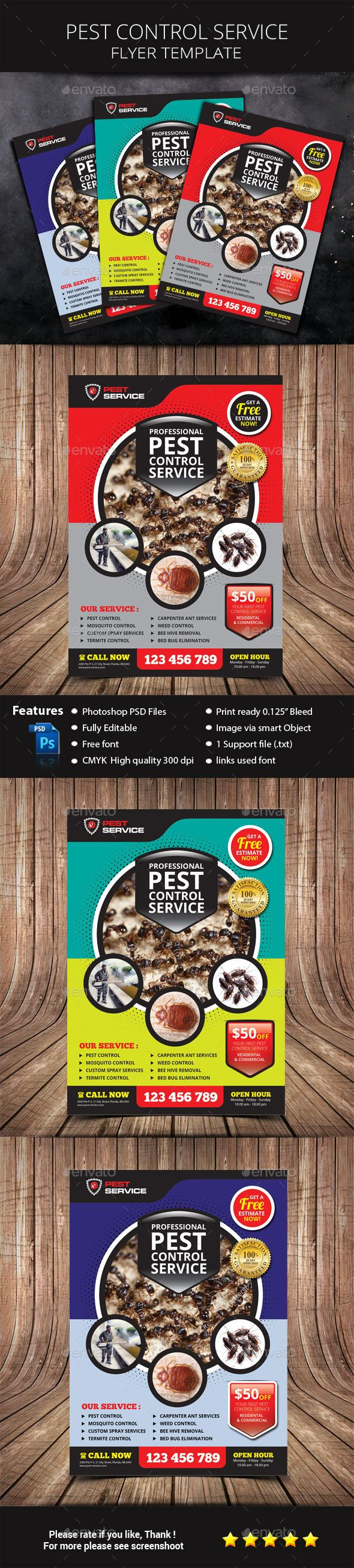 pest control service flyer commerce flyers