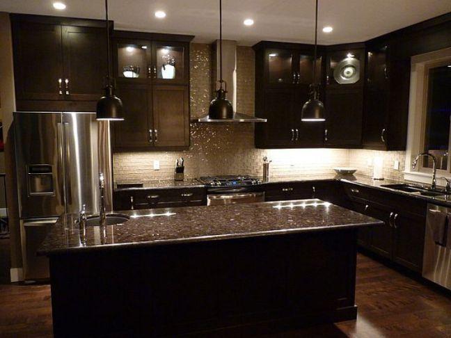 Kitchen Cabinets, Kitchen Pictures With Dark Brown Cabinets