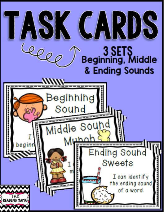 https://www.teacherspayteachers.com/Product/Beginning-Middle-and-Ending-Sounds-Task-Cards-1295370