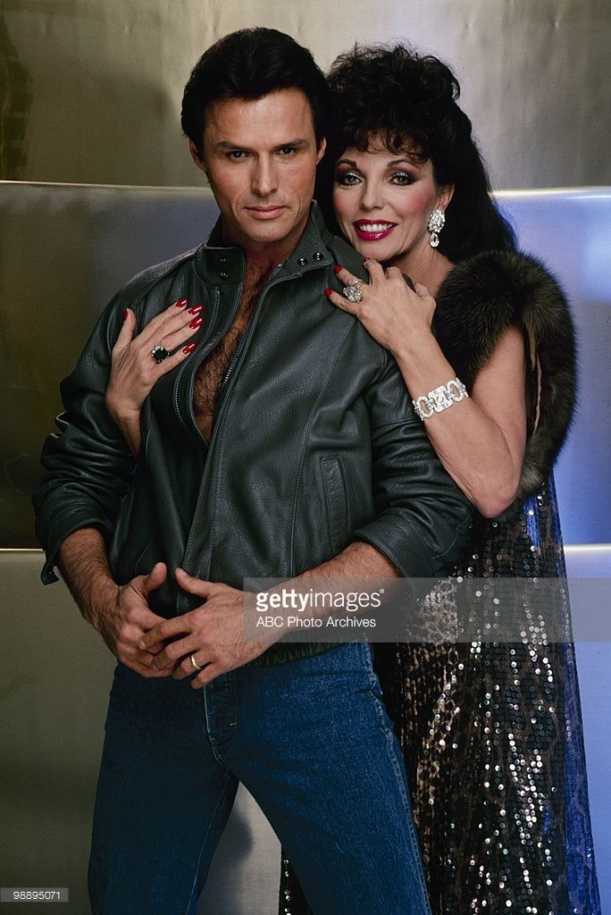 DYNASTY - 'Photo Shoot-Joan Collins;Michael Nader' which aired on January 16, 1985. (Photo by ABC Photo Archives/ABC via Getty Images) MICHAEL