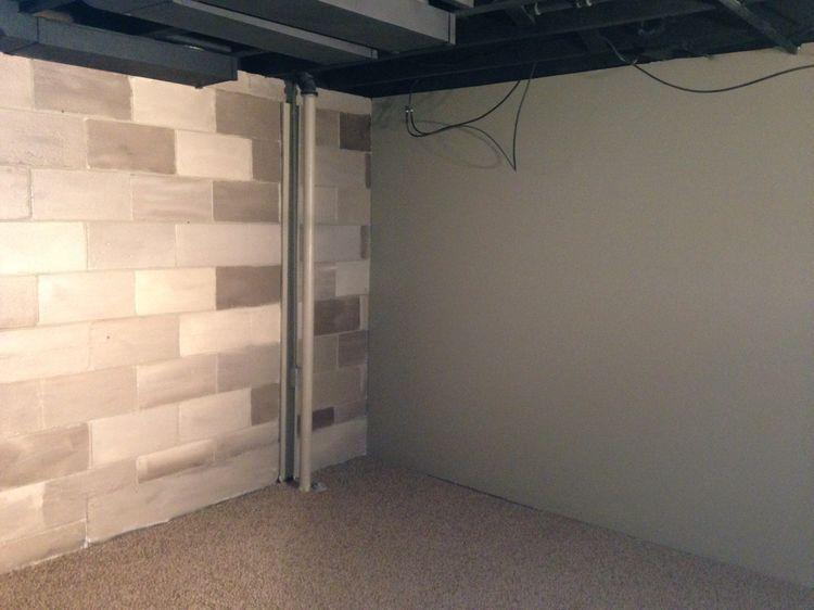 59a15a6441dd3ecff8f207d97037b15a Jpg 750 562 Pixels Cinder Block Walls Basement Remodel Diy Modern Kitchen Window