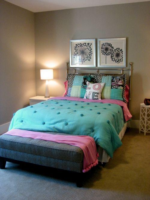 Neutral Walls Colorful Bedding Tween Room Pinterest Bedroom Room And Master Bedroom