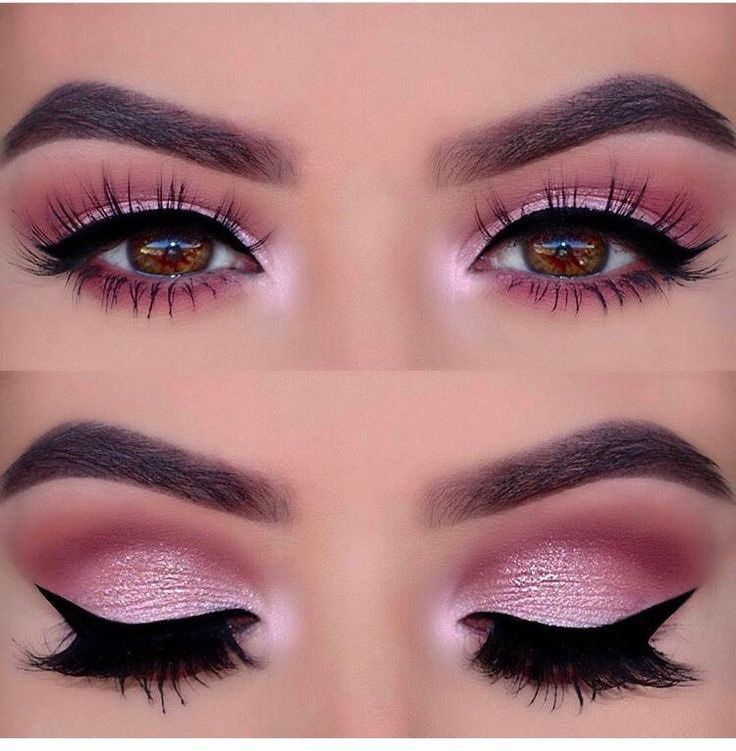 Hot pink eye makeup