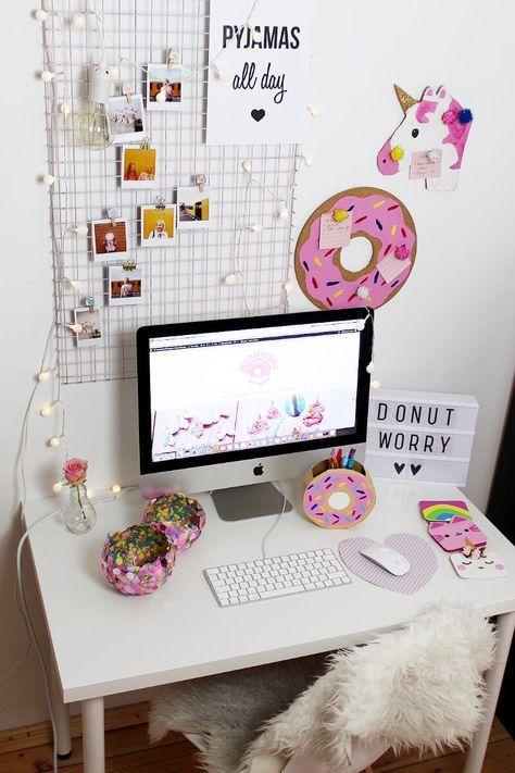 diy fotowand selber machen schreibtisch deko basteln pinterest diy room decor room. Black Bedroom Furniture Sets. Home Design Ideas