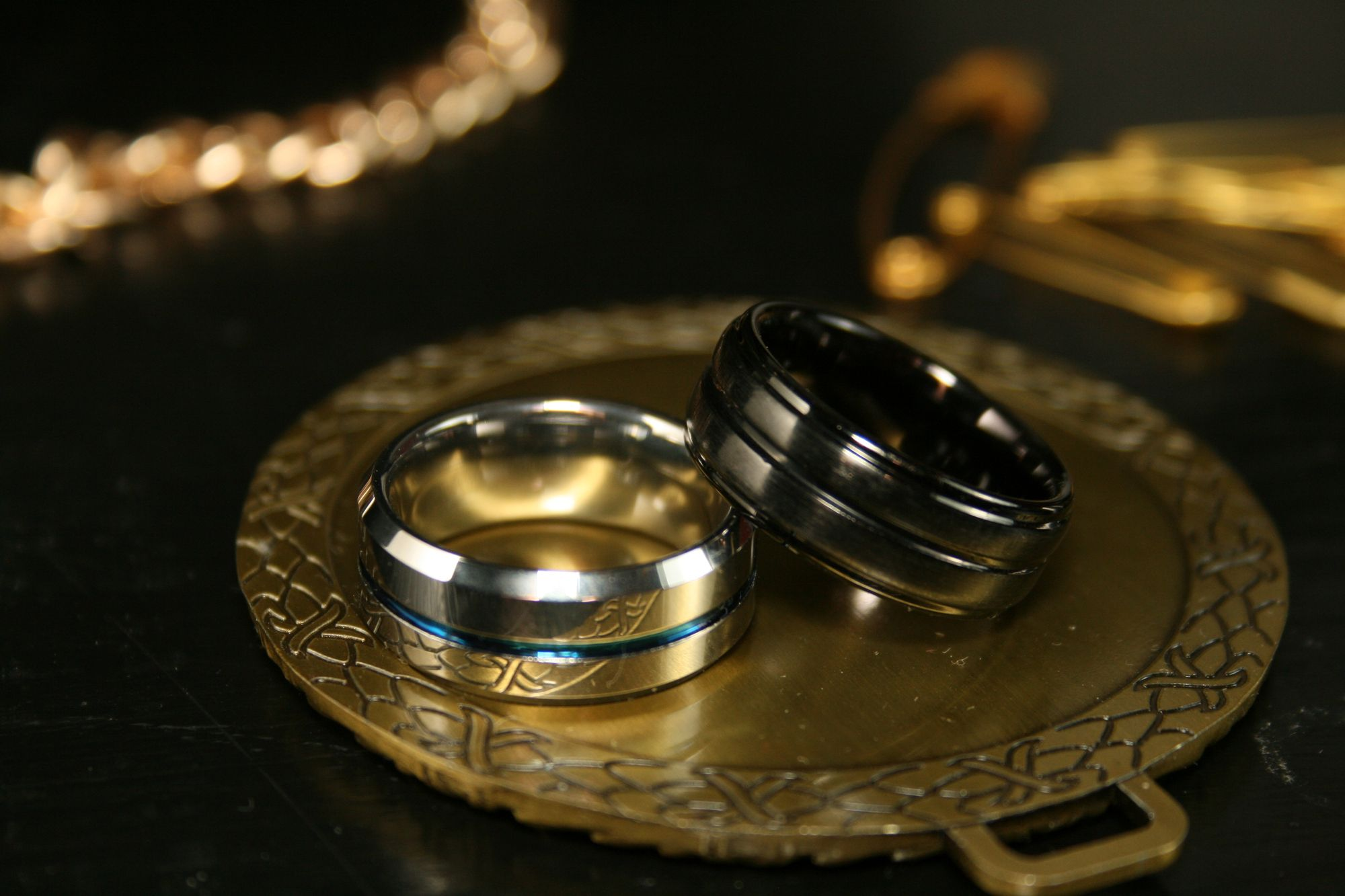 Cobalt Blue Ring in 2020 Mens stainless steel rings