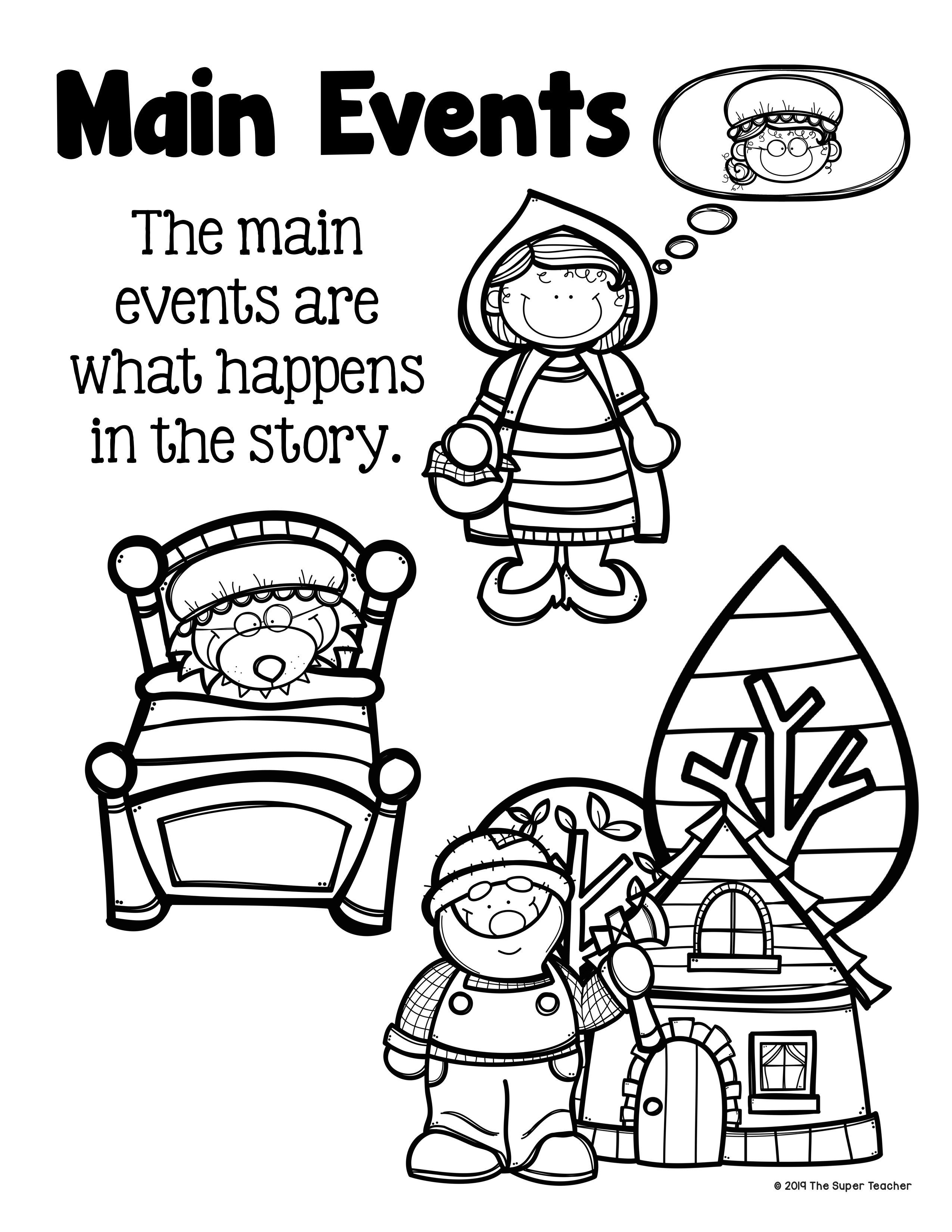 Little Red Riding Hood Story Elements And Story Retelling Worksheets Pack Character Worksheets Kindergarten Worksheets History Worksheets