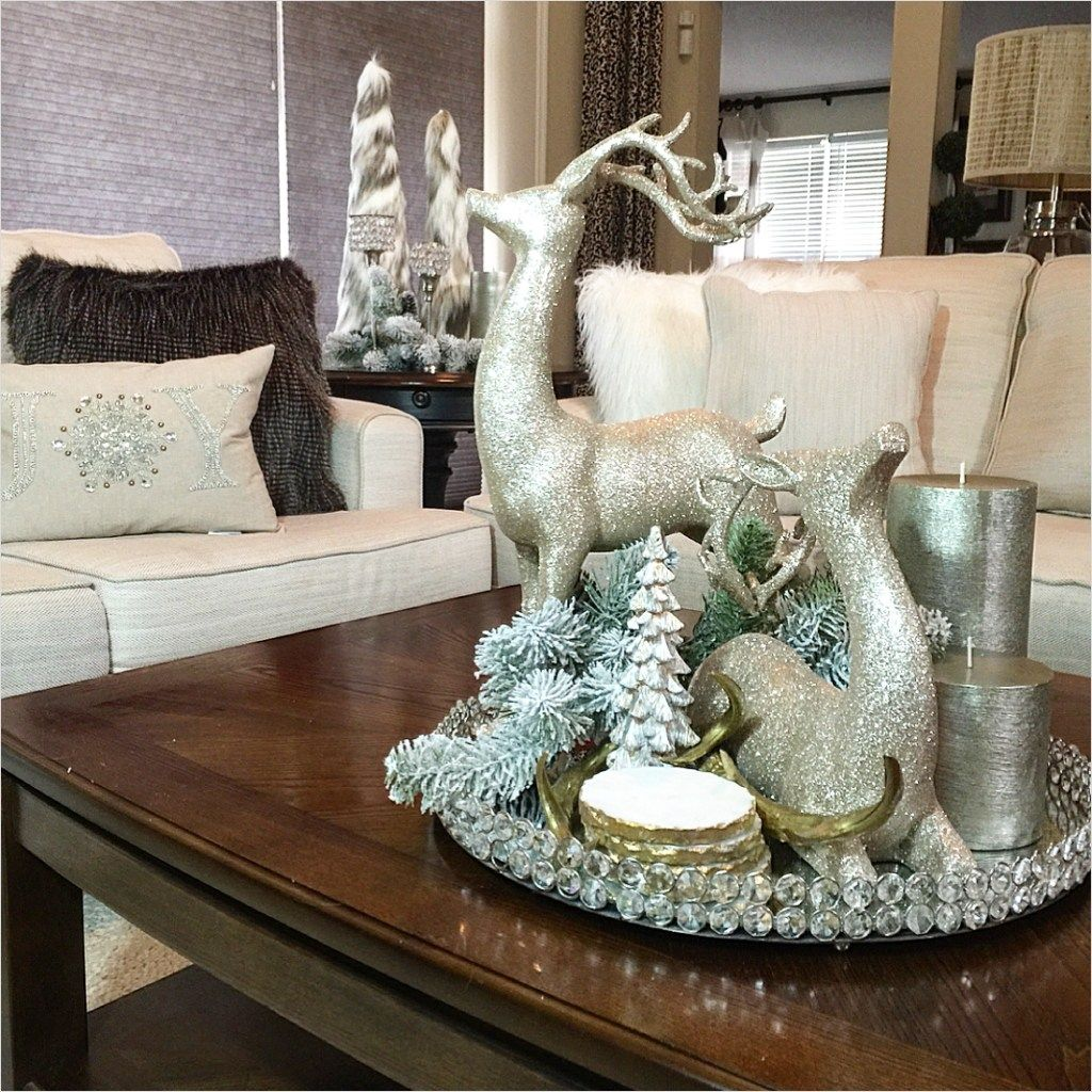 Coffee Table Stonegable: 40 Best Coffee Table Christmas Decorations